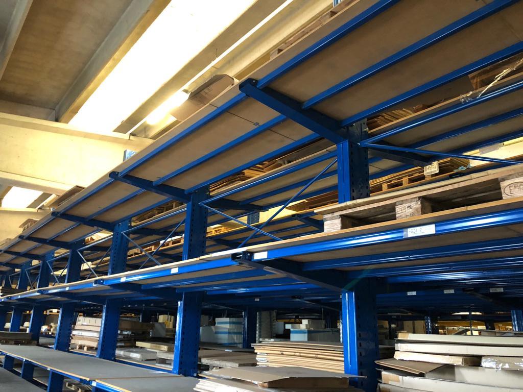 Scaffalature Industriali Modulblok.Usato Scaffalature Metalliche Industriali Nuove Usate